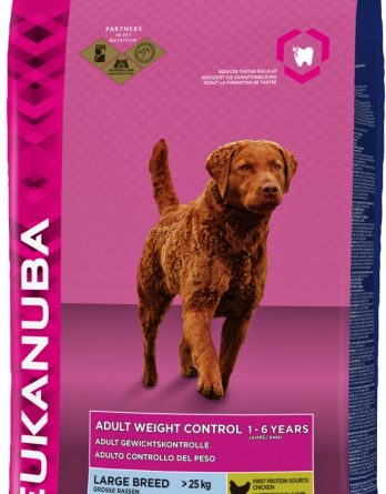 Hundfoder Eukanuba Adult Large Weight Control, 15 kg