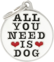 Tagg MyFamily All you need is dog, Vit