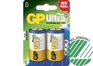 Batteri GP Alkaline Ultra Plus D LR20, 2-pack