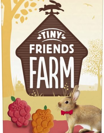 Gnagargodis Tiny Friends Farm Russel Rabbit Fruities Körsbär/Aprikos, 120 g