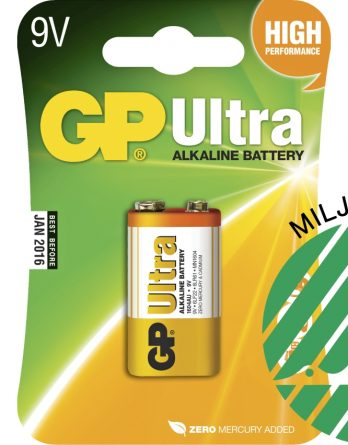 Batteri GP Alkaline Ultra 6LR61, 9 V