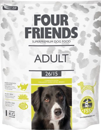 Hundfoder Four Friends Adult, 1 kg