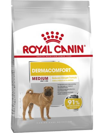 Hundfoder Royal Canin Medium Dermacomfort, 10 kg