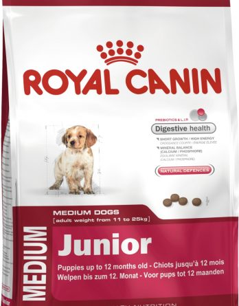 Hundfoder Royal Canin Medium Junior, 15 kg