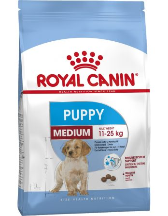 Hundfoder Royal Canin Medium Junior, 4 kg
