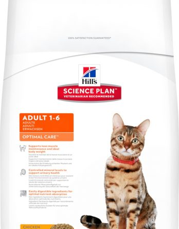 Kattmat Hills Cat Optimal Care Adult Kyckling, 10 kg
