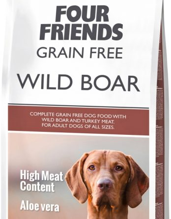 Hundfoder Four Friends Grain Free Vildsvin, 12 kg