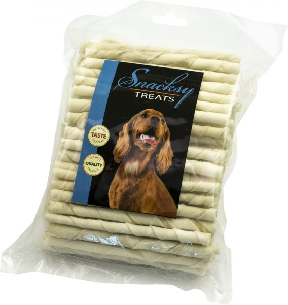 Tuggpinnar Snacksy Treats Vita 8 mm, 100-pack