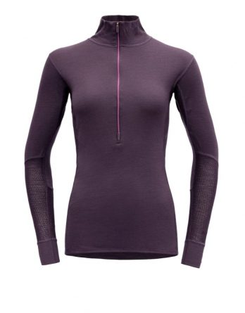 Women's Wool Mesh Half Zip Neck