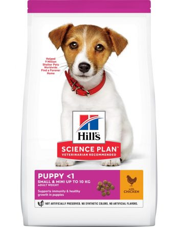 Hundfoder Hills Science Plan Puppy Small and Mini Chicken, 1,5 kg